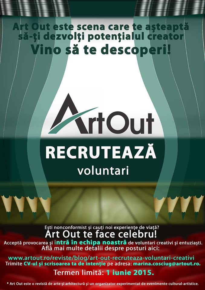 afis Art Out Recruteaza 2015