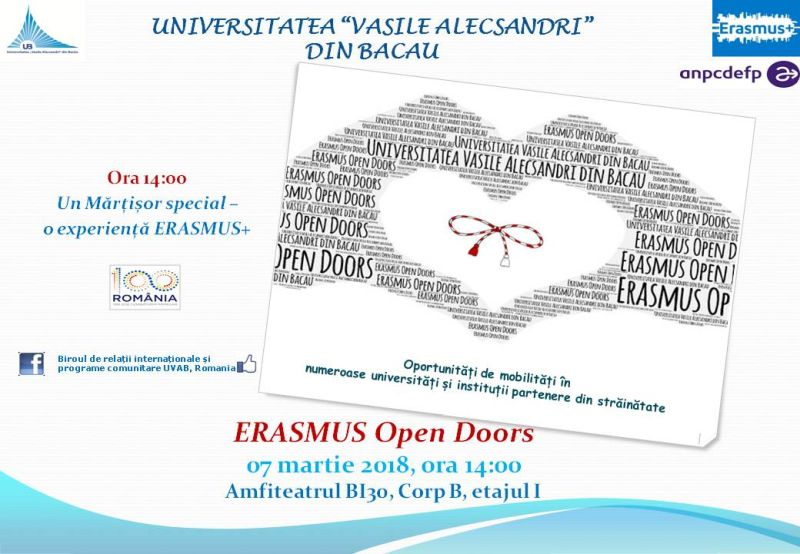 Erasmus Open Doors 07.03.2018