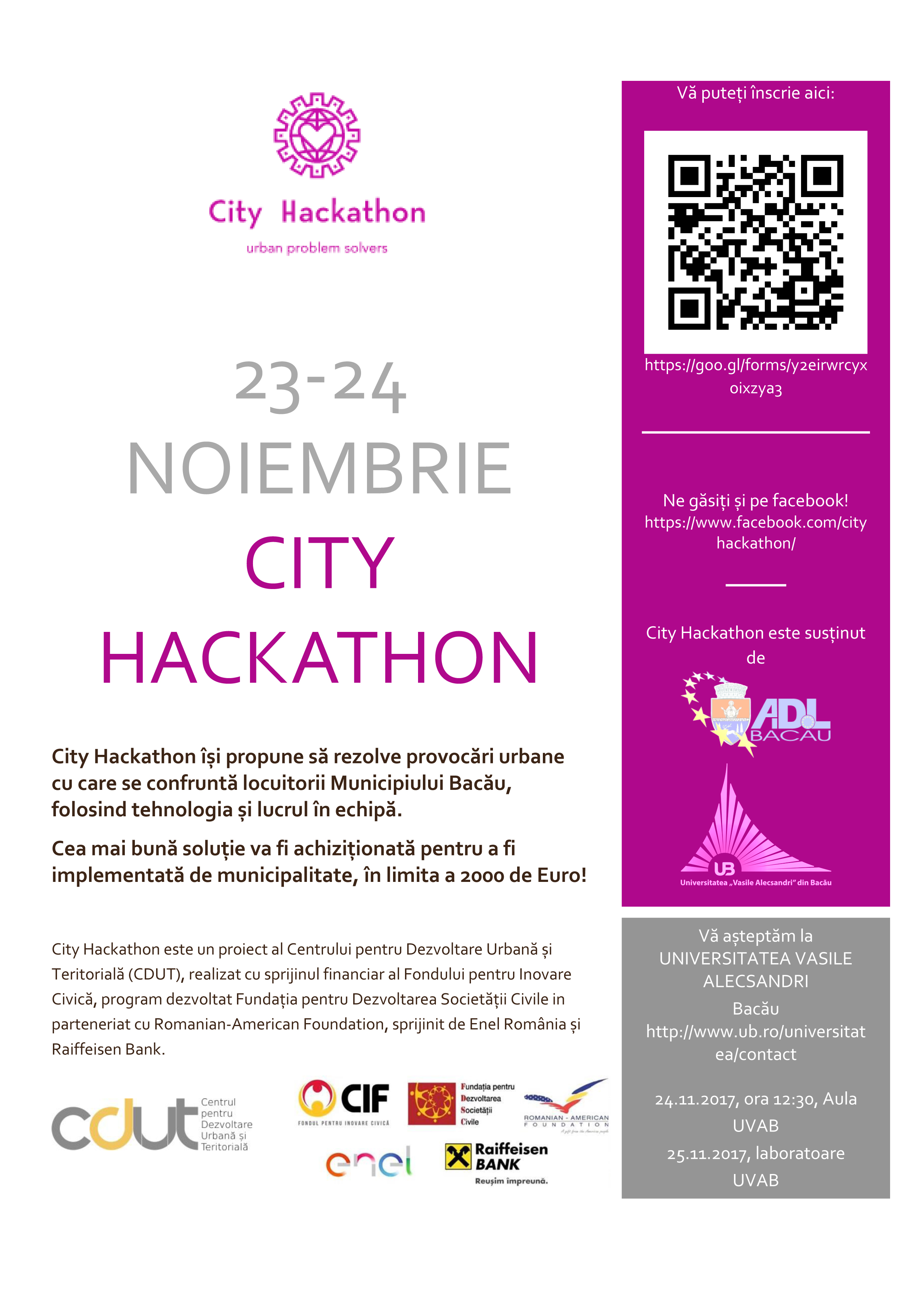 City Hackaton flyer